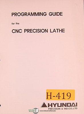 Hyundai Hi Trol Ez Cnc Lathe Programming Manual 1996