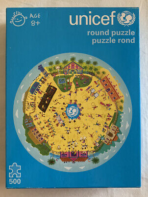 NEW Unicef Round 500 Piece Jigsaw Factory Sealed Children In The Play Yards