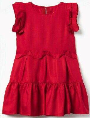 Gymboree nwt Christmas Holiday red fancy girls dress size 7 - Girls Red Christmas Dresses