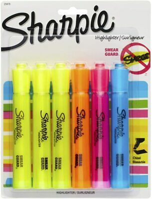Sharpie Accent Tank-style Highlighters 6-count Chisel Tip Assorted Colors 2587