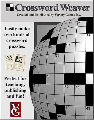Crossword Weaver, Crossword Puzzle Maker Software--License Number + Edu discount](Discount Puzzles)