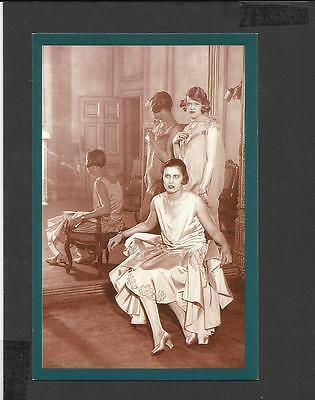 Nostalgia Postcard  Spring Fashion Messrs Launder Albemarle Street 1928