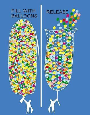 Balloon Release Net for all Occasions 3 sizes to hold 200, 500, 1000 balloons](Net For Balloons)