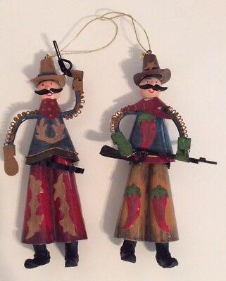 Christmas Metal Cowboy Ornaments Sherriff Cowboy Christmas Cowboys  ()