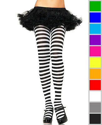 NEW Striped Assorted Colors Pantyhose Womens Tights Leg Avenue Halloween Hosiery - Halloween Striped Tights
