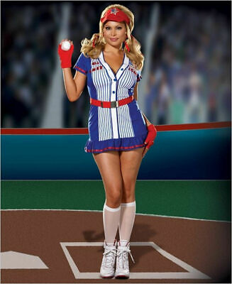 Authentic Dreamgirl 5919X - Sexy American All Star Baseball Costume - Size 1X2X](All Star Costume)