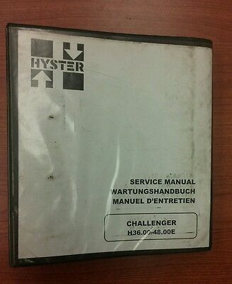 Hyster Forklift Service Manual Electric E70 120Z E100ZS D098 on