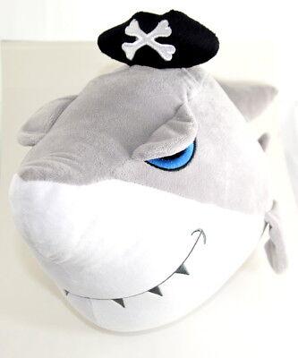 Plüsch Hai Pirat Comic 60cm Ozean Fisch Zähne Flosse See Pazifik Raubfisch Angel