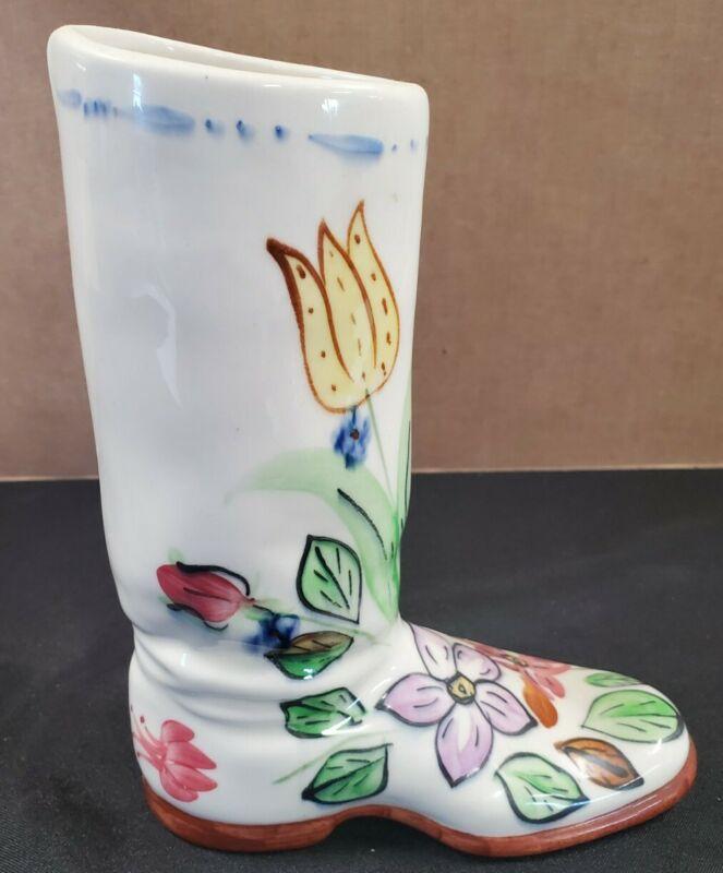 "Blue Ridge Pottery ""GLADYS"" Boot Vase"