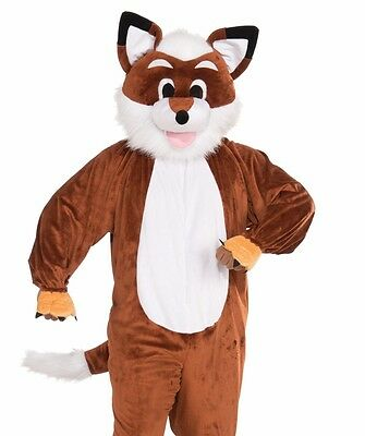 Adult Red Fox Costume Plush Furry Deluxe Mascot Cosplay - Adult Furries