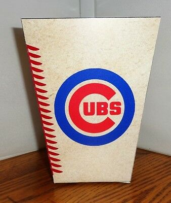 Chicago Cubs Popcorn Box. Baseball. Free Shipping