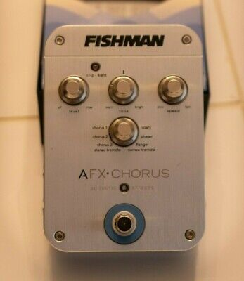 Fishman Afx Chorus Effects Pedal for Acoustic Guitar - great condition in box.