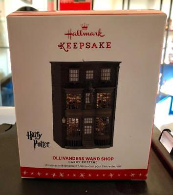 Harry Potter Ollivanders Wand Shop Hallmark Ornament 2016 2018 Keepsake RETIRED