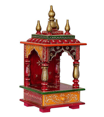 Mandir Pooja Ghar Mandapam for Worship Hawan Wooden Handcrafted Hindu Temple-394