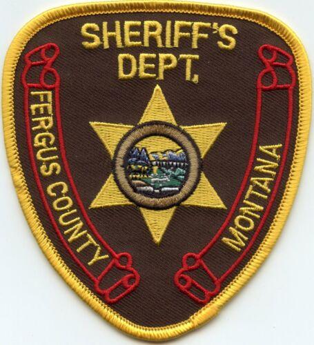FERGUS COUNTY MONTANA MT SHERIFF POLICE PATCH