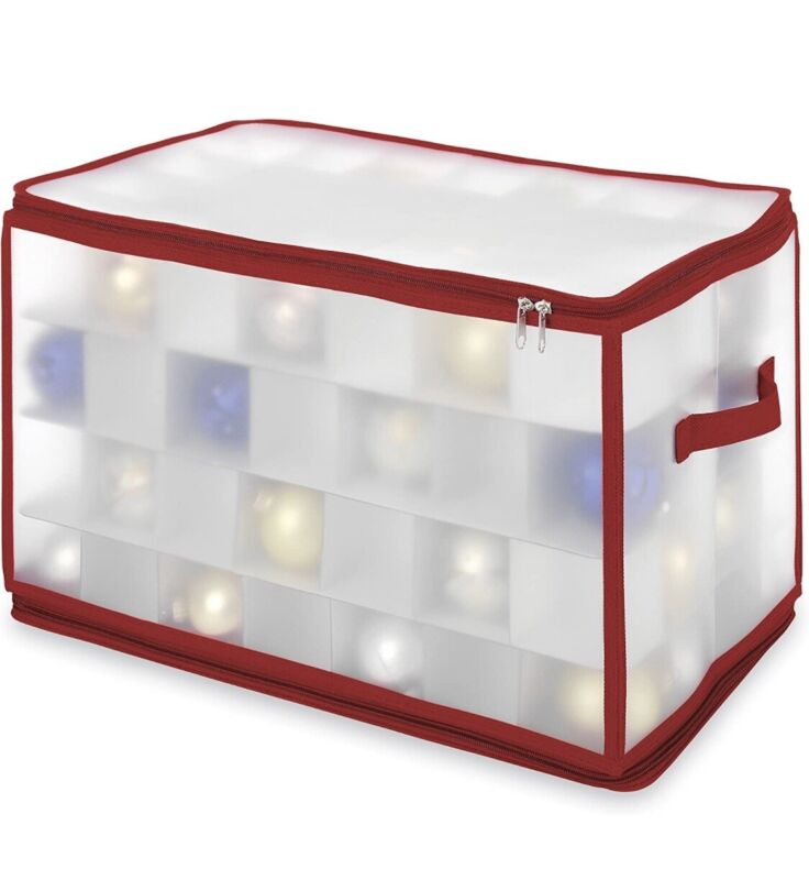 WHITMOR Christmas Ornament Zip Chest Holds up to 112 Ornaments Individual