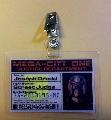 Dredd Id Badge-Street Judge Joseph Dredd Prop Kostüm Cosplay ()