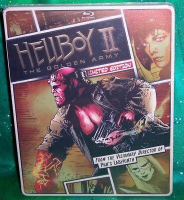 NEW OOP HELLBOY 2 II GOLDEN ARMY COMIC ART STEELBOOK BLU RAY & DVD MOVIE 2008