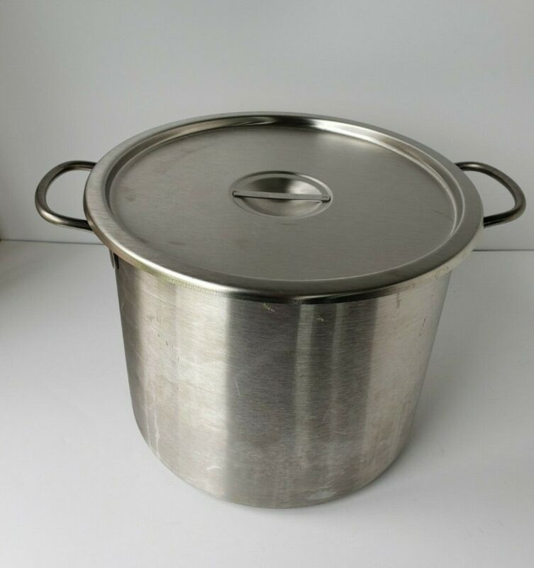 Vintage Vollrath stainless steel stock pot kettle with lid