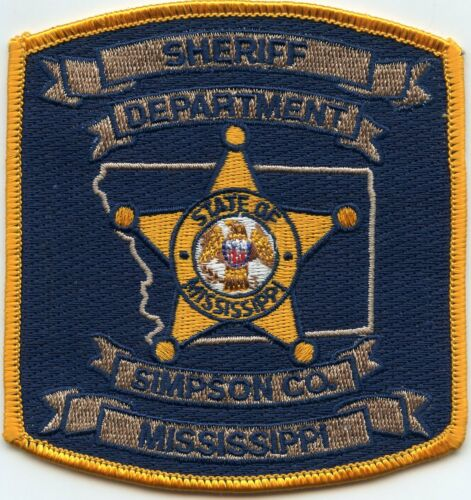 SIMPSON COUNTY MISSISSIPPI MS SHERIFF POLICE PATCH