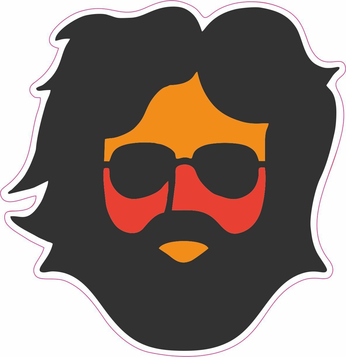 Grateful Dead Jerry Garcia Vinly Sticker Decal 4 inch