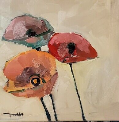JOSE TRUJILLO Oil Painting IMPRESSIONISM FLOWERS FLORAL COLLECTIBLE FINE ART NR