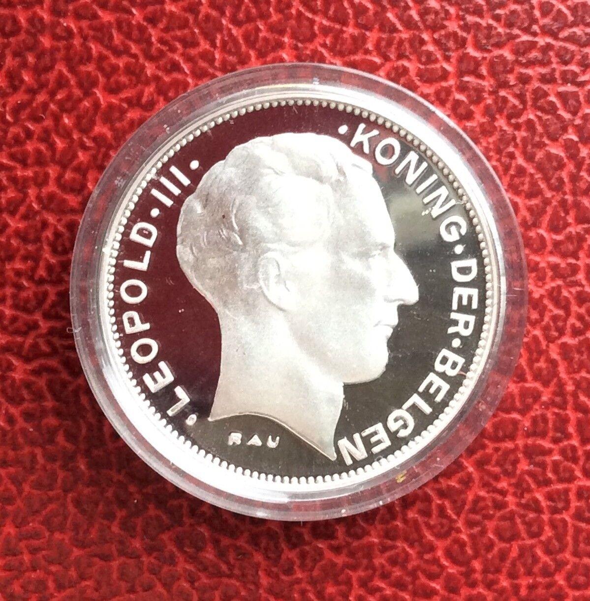 Belgique - Refrappe officielle de la Monnaie Royale - Rare 5 Francs 1941 VL - Ag