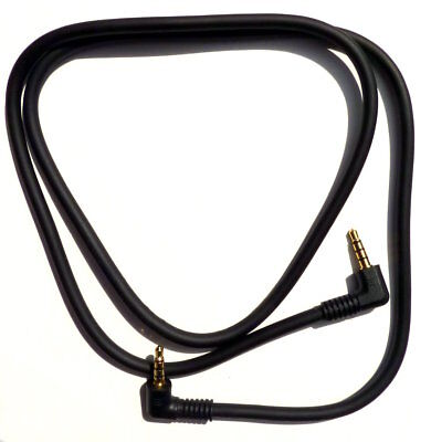 3.5mm Shielded 4 Conductor Audio Cable with Right Angle Male to Male Gold Plated (Conductor Shielded Audio Cable)