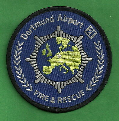 DORTMUND GERMANY INTERNATIONAL AIRPORT FIRE DEPARTMENT ARFF PATCH