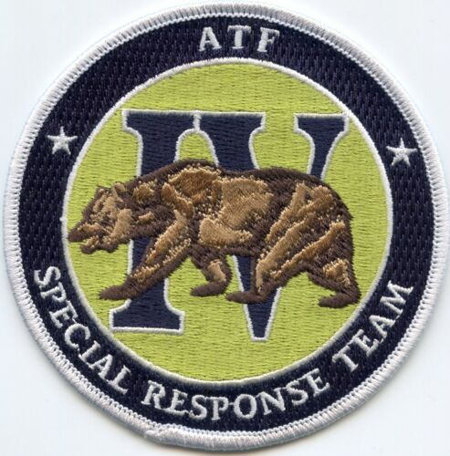 ATF IV SPECIAL RESPONSE TEAM SRT SWAT Full Color POLICE PATCH