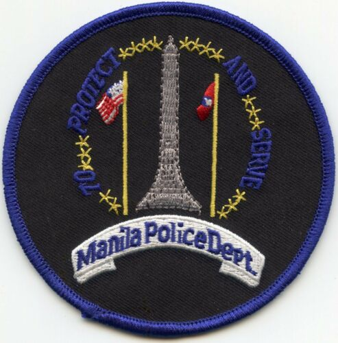 MANILA PHILIPPINES To Protect And Serve POLICE PATCH