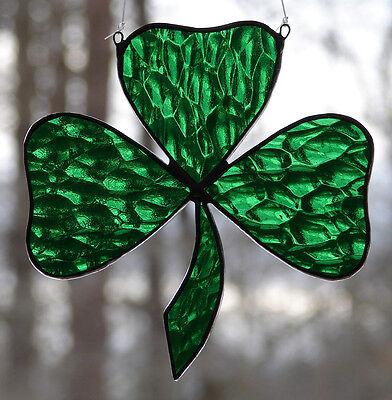 Stained Glass Irish Shamrock