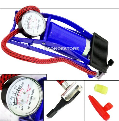 Foot Air Pump NEW Inflates up to 100psi Inflate Vehicle