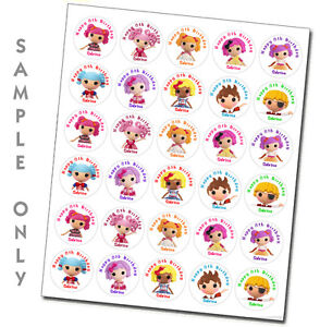 30 ct Personalized Lalaloopsy stickers label birthday party favors decoration