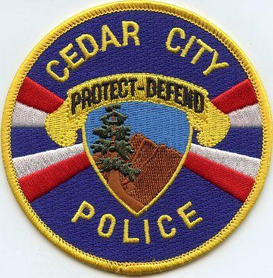 CEDAR CITY UTAH UT Protect Defend POLICE PATCH