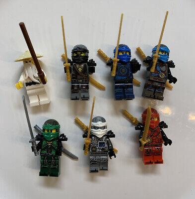 Lego Ninjago Lot of 7 Ninjas Figures Rare