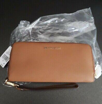 Michael Kors Jet Set Money Pieces purse,leather Continental,light brown,new tags