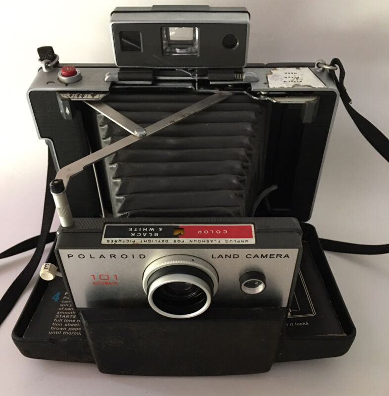 Polaroid Land Camera 101 Instant Film Automatic Everything Is Included Works