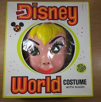 Walt Disney Tinkerbell Halloween Costume by Ben Cooper 1971 Medium in Box