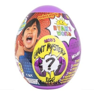 New & Sealed RYAN'S WORLD Giant Mystery Purple Egg Series 3 Surprise