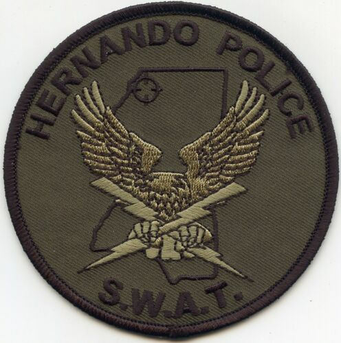 HERNANDO MISSISSIPPI MS Special Weapons And Tactics SWAT POLICE PATCH
