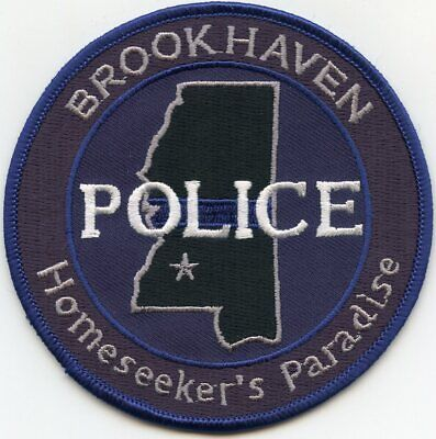 BROOKHAVEN MISSISSIPPI MS Homeseeker's Paradise POLICE PATCH for sale  Atlanta