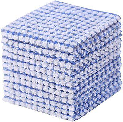 Kitchen Towels Bulk 12 Cotton Kitchen Dish-Cloths Scrubbing Dishcloths Sets