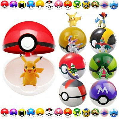 24 X Pokemon Go Action Figures With 9X Pokeball Pikachu Pop Up Ultra Gs Ball Toy