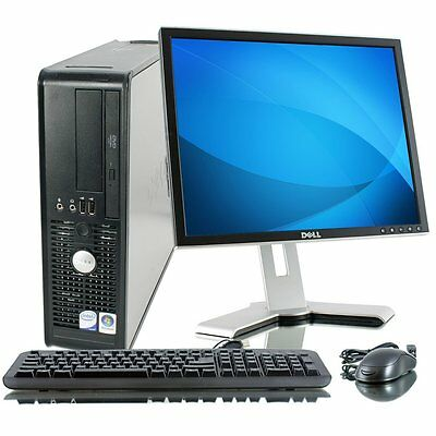 WINDOWS 7 FULL DELL COMPUTER DESKTOP TOWER SET PC 4GB RAM 160GB HDD WIFI BARGAIN
