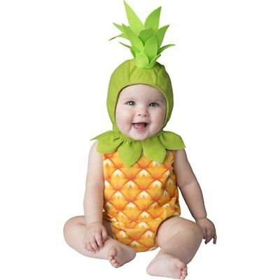 PINEAPPLE Toddler (2T) 2-Piece Baby Costume Bodysuit + Hood Tropical Island Luau](Pineapple Baby Costume)