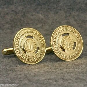 Chicago-IL-Vintage-CTA-Brass-Subway-Transit-Token-Cufflinks