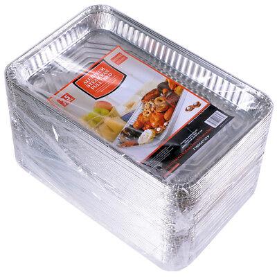Steam Table Pans Disposable Aluminum Foil Medium Full Size 50