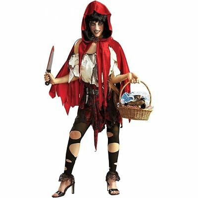 Lil Dead Riding Hood Costume Adult X-Large Rubies Women's Halloween Red Lil Dead Riding Hood