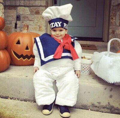 Toddler Halloween Customes (Stay Puft Marshmallow Man Toddler Costume Halloween 2T 3T Custom)